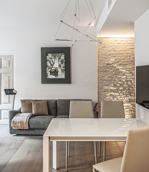 Projekty,  Salon zaprojektowane przez BRANDO concept