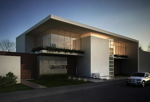 Casa Lázaro: Casas de estilo minimalista por DAR Arquitectos