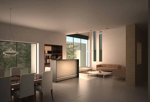 Casa Lázaro: Salas de estilo minimalista por DAR Arquitectos