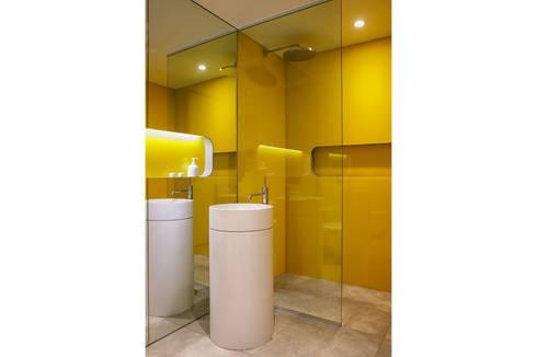 Passive in Park Slope: modern Bathroom by Sarah Jefferys Design
