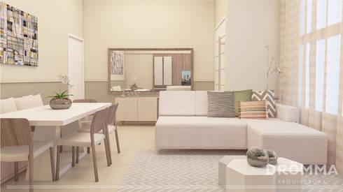Salas de estar modernas por Drömma Arquitetura