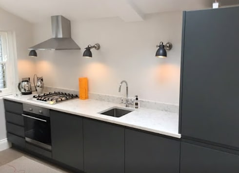 Grey Handleless Kitchen By Just Click Kitchens Homify - Dark grey matt kitchen