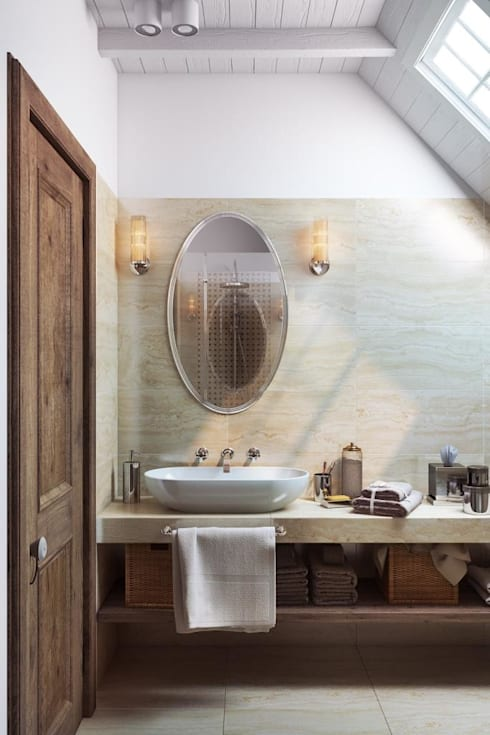country Bathroom by Дизайн студия Алёны Чекалиной