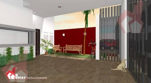 Cochera Makulis: Garajes de estilo moderno por Escay Soluciones