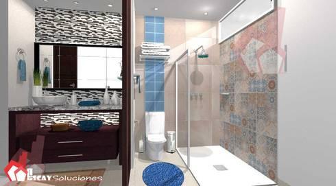 Baño Makulis: Baños de estilo  por Escay Soluciones