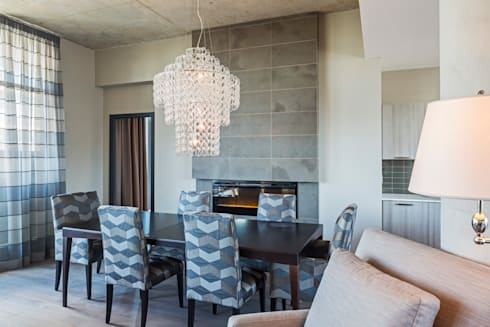 Penthouse Dining Room: modern Dining room by Collage Designs