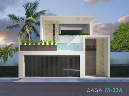 Fachada principal: Casas de estilo moderno por Constructora Asvial - Desarrollador Inmobiliario
