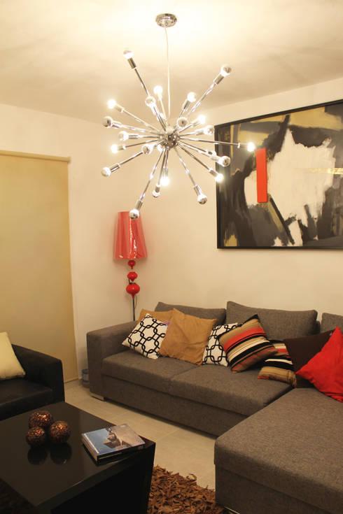 Diseño interior sala 3: Salas de estilo moderno por Constructora Asvial - Desarrollador Inmobiliario