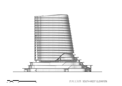 Gemdale Changshou Road, Shanghai, China, designed by Andrew Bromberg at Aedas:  Commercial Spaces by Aedas