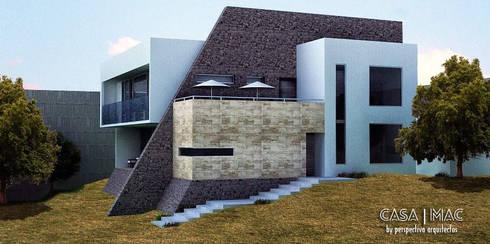 Casa MAC: Casas de estilo ecléctico por Perspectiva Arquitectos México