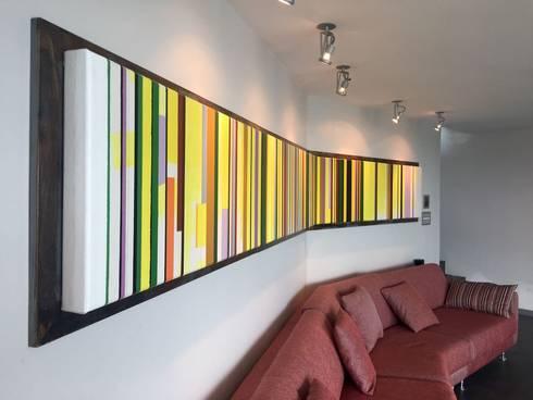 Apto. Bello Monte: Salas / recibidores de estilo moderno por THE muebles