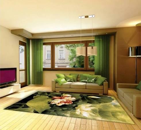 Tapete moderno para sala.: Sala de estar  por ATLANTIKHEROES