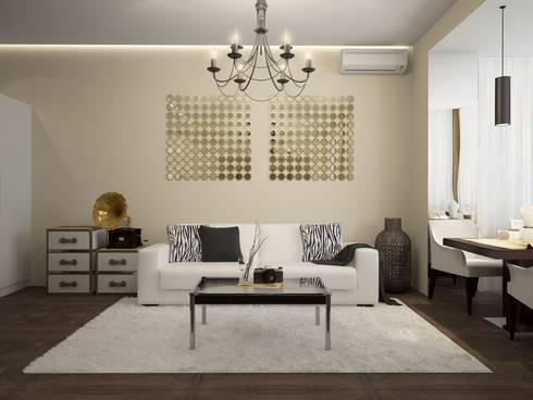 townhouse in modern style: modern Living room by design studio by Mariya Rubleva