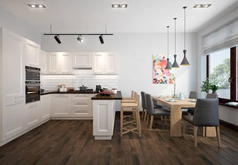 townhouse in scandinavian style: scandinavian Dining room by design studio by Mariya Rubleva