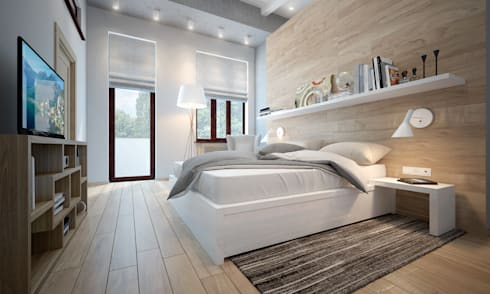 townhouse in scandinavian style: scandinavian Bedroom by design studio by Mariya Rubleva