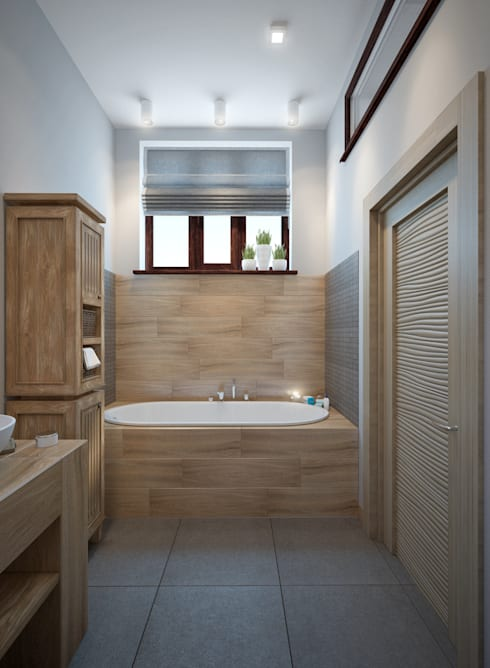 townhouse in scandinavian style: scandinavian Bathroom by design studio by Mariya Rubleva