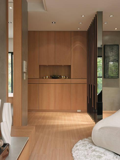 Pasillos y recibidores de estilo  por 形構設計 Morpho-Design