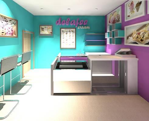 Diseño interior para local comercial.: Tiendas y espacios comerciales de estilo  por Diseño Store