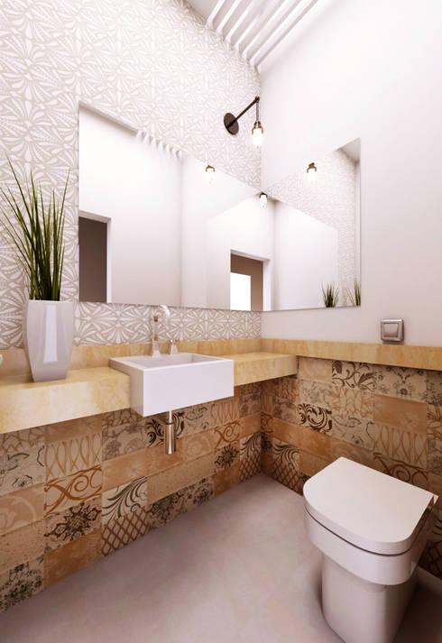 Casa WW : Banheiros  por canatelli arquitetura e design