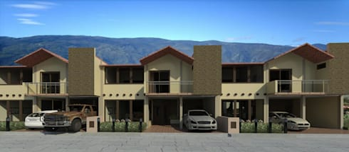 Fachada conjunto residencial:  de estilo  por Diseño Store