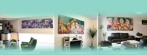 Los momentos más bellos de la familia serán el mejor elemento de la decoración de tu hogar.: Arte de estilo  por MORAN Estudio De Arte