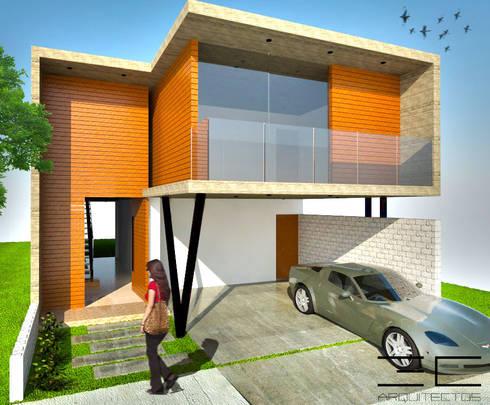 Casa RS [León, Gto]: Casas de estilo moderno por 3C Arquitectos S.A. de C.V.