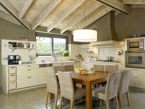 Tres espacios en uno cocina lavadero y planchador de - Cocinas estilo rustico ...