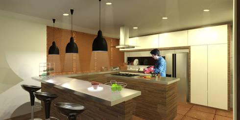 Casa Villegas: Comedores de estilo moderno por Gamma