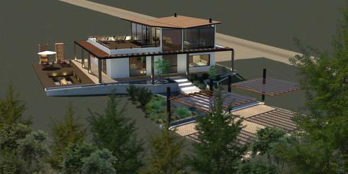 Casa Villegas: Casas de estilo moderno por Gamma
