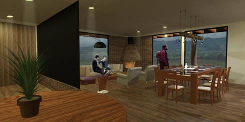 Casa Villegas: Salas de estilo moderno por Gamma