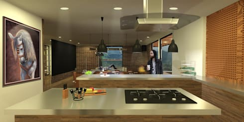 Casa Villegas: Cocinas de estilo moderno por Gamma