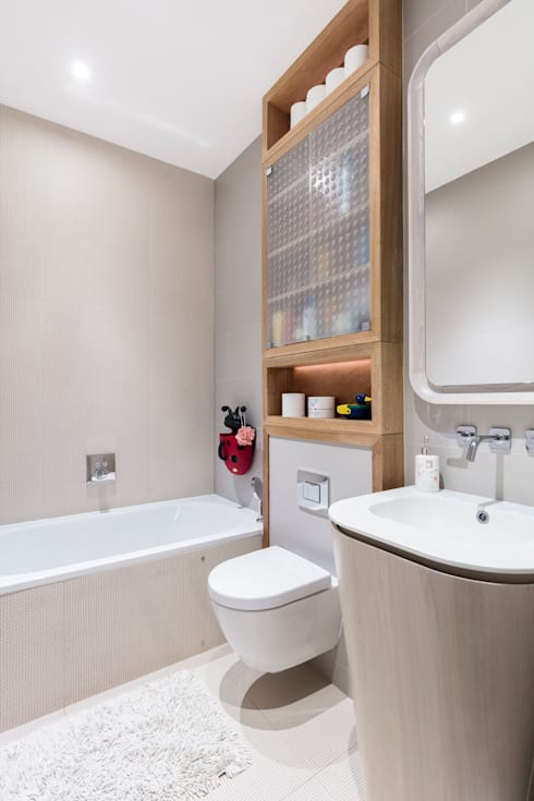Bathroom تنفيذ Black and Milk | Interior Design | London