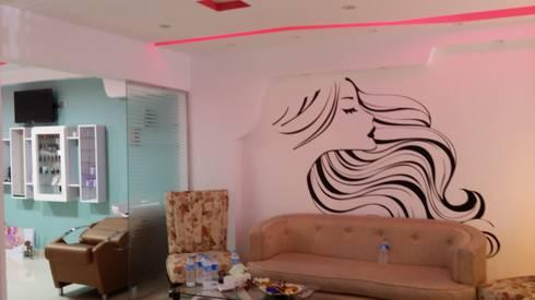 ريسبشن مركز تجميل 1 بعد:   تنفيذ haitham hamdy designs