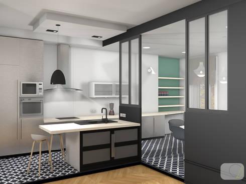 Rénovation d\'un appartement haussmannien - Lyon par Camille BASSE ...