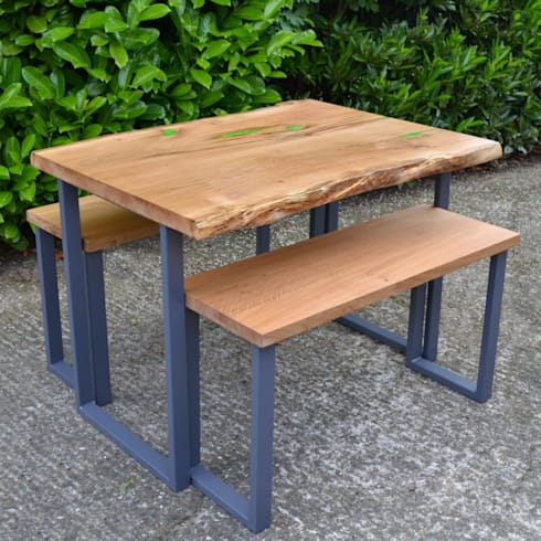 Live Edge Resin Infill Dining Table
