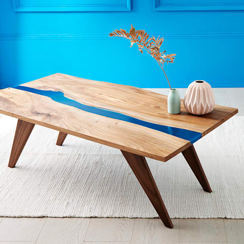 Genial Resin River Coffe Table: Modern Living Room By Frances Bradley