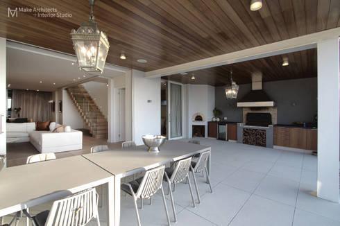 Hove Road :  Patios by Make Architects + Interior Studio