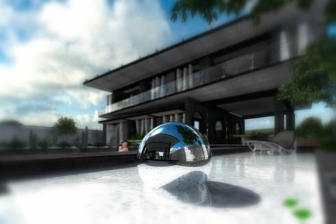RESIDENCIA GG: Albercas de estilo moderno por TREVINO.CHABRAND | Architectural Studio