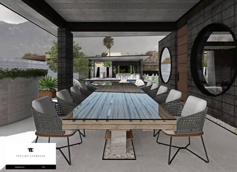 RESIDENCIA GG: Comedores de estilo moderno por TREVINO.CHABRAND | Architectural Studio