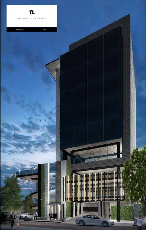 TORRE 514: Casas de estilo moderno por TREVINO.CHABRAND | Architectural Studio