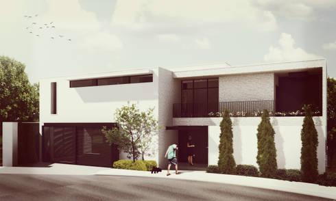 Fachada Principal: Casas de estilo minimalista por Estudio Volante