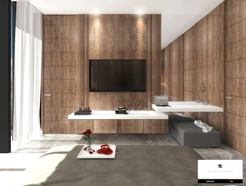 RESIDENCIA TF: Recámaras de estilo moderno por TREVINO.CHABRAND | Architectural Studio