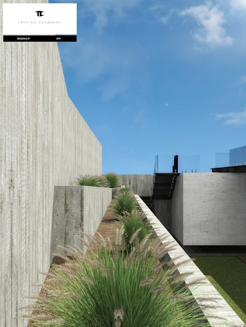 RESIDENCIA TF: Jardines de estilo moderno por TREVINO.CHABRAND | Architectural Studio