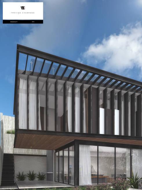 RESIDENCIA TF: Casas de estilo moderno por TREVINO.CHABRAND | Architectural Studio