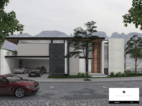 RESIDENCIA CORDILLERA: Casas de estilo moderno por TREVINO.CHABRAND | Architectural Studio
