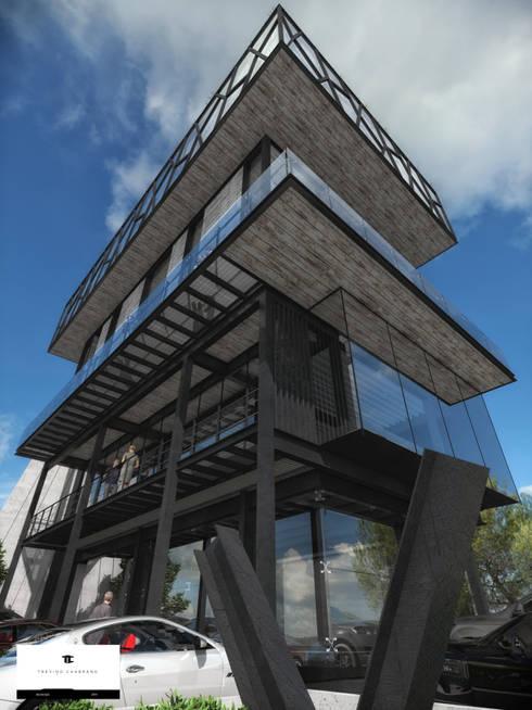 TORRE RIO ROSAS: Casas de estilo moderno por TREVINO.CHABRAND | Architectural Studio