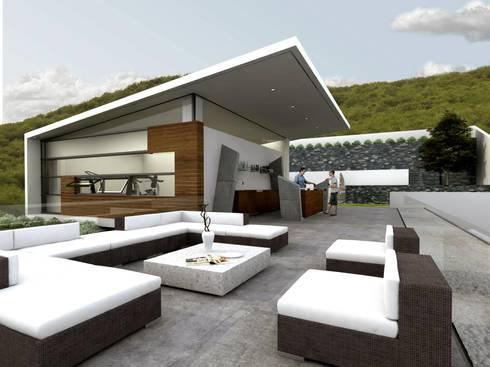 RESIDENCIA SIERRA ALTA: Terrazas de estilo  por TREVINO.CHABRAND | Architectural Studio