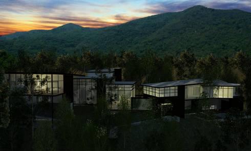 RESIDENCIA SELEKTO STUDIO Y HOME: Casas de estilo moderno por TREVINO.CHABRAND | Architectural Studio