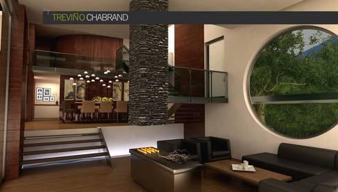 RESIDENCIA SELEKTO STUDIO Y HOME: Salas de estilo moderno por TREVINO.CHABRAND | Architectural Studio