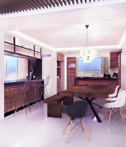 Bodegas de vino de estilo  por 3C Arquitectos S.A. de C.V.